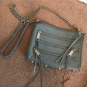 Rebecca Minkoff 5 Zip Leather Crossbody